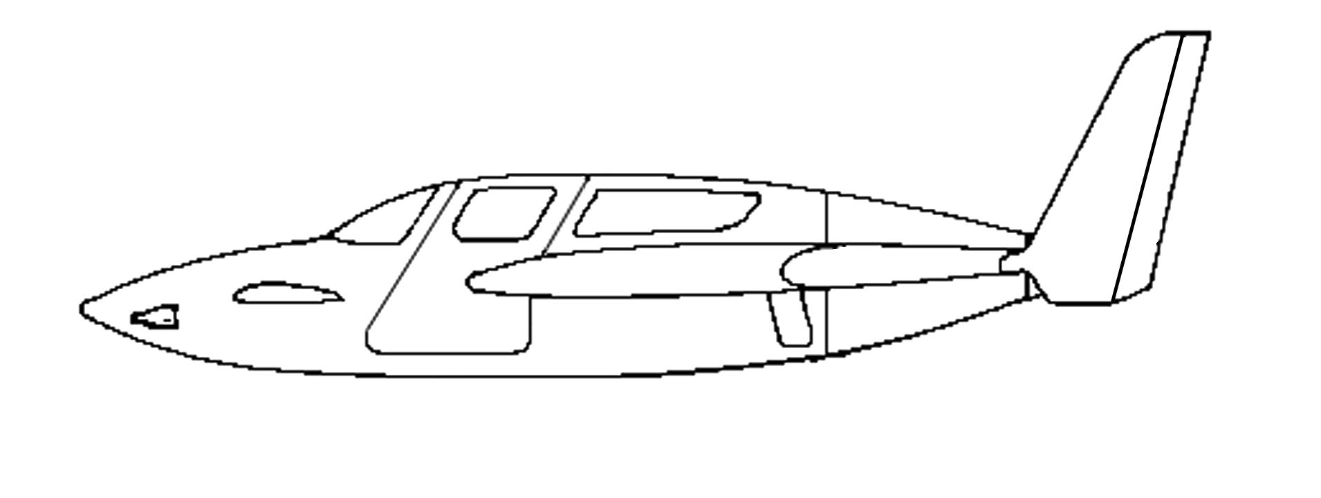 Line Drawing Jet : Airplane line drawings
